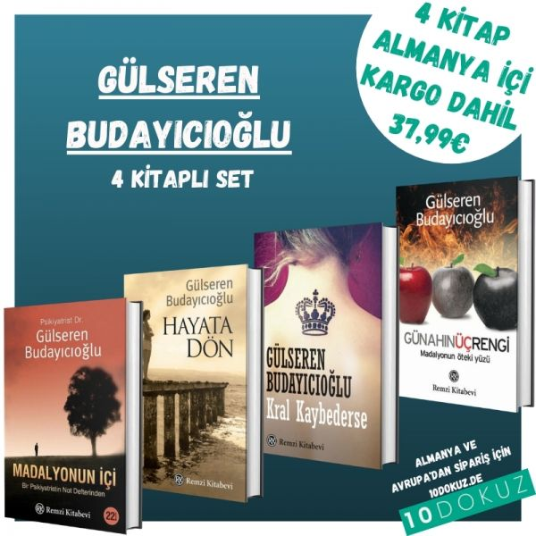 Gülseren Budayıcıoğlu 4 Kitaplı Set (Hayata Dön/Kral Kaybederse/Madalyonun İçi/Günahın Üç Rengi)