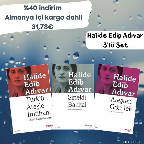 Halide Edip Adıvar 3'lü SET