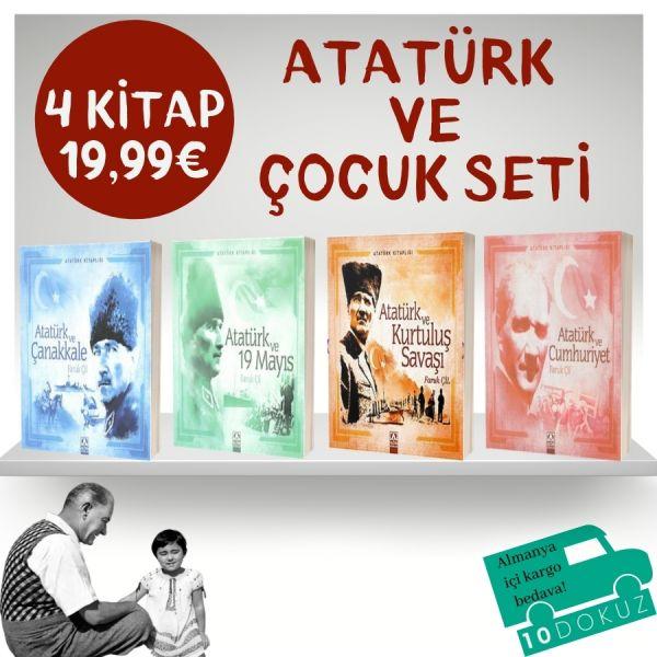 Atatürk ve Çocuk Seti 4 Kitap