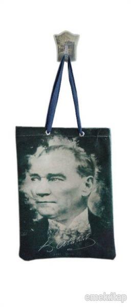 Atatürk Siyah Bez Çanta Kod - 440087