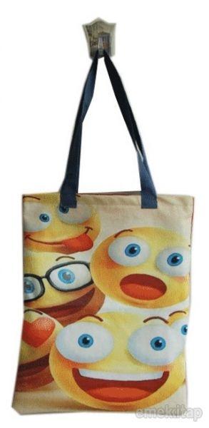 Emoji Göz Bez Çanta