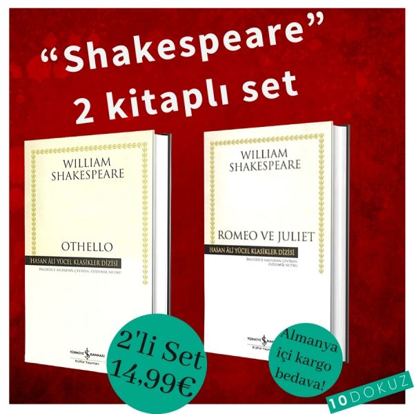 Shakespeare 2 Kitaplı Set. ( Romeo ve Juliet & Othello )