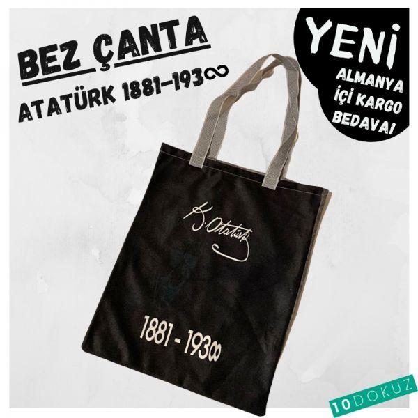 Kemal Atatürk Bez Çanta Kod - Bez Çanta