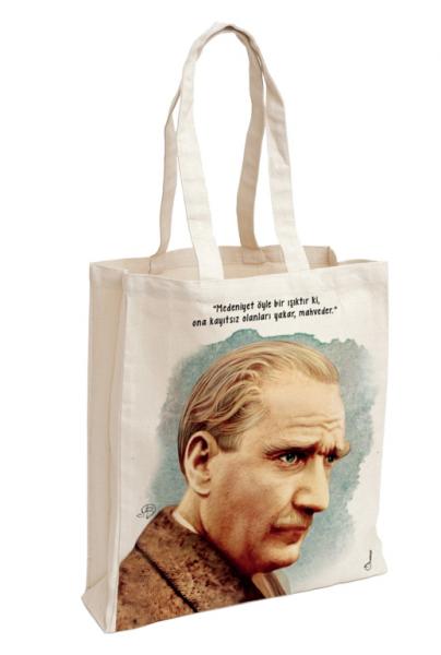 Baumwolltasche Atatürk