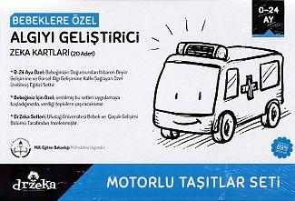 Bebeklere Özel Algıyı Geliştirici Zeka Kartları Motorlu Taşıtlar Seti 0 24 Ay