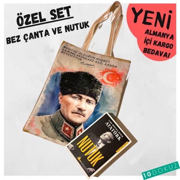 Atatürk - Bez Çanta ve Nutuk Seti