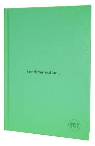 Kendime Notlar Arda Erel Defter Yeşil Ciltli
