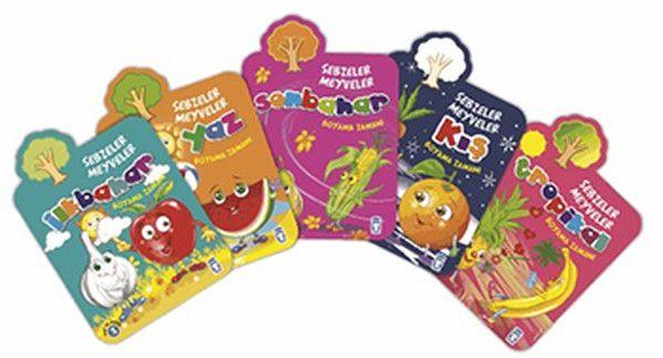 Boyama Zamanı Sebzeler Meyveler Seti 6 Kitap Takım