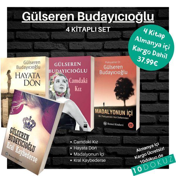 Gülseren Budayıcıoğlu 4 Kitap SET (Hayata Dön / Camdaki Kız / Kral Kaybederse / Madalyonun İçi)