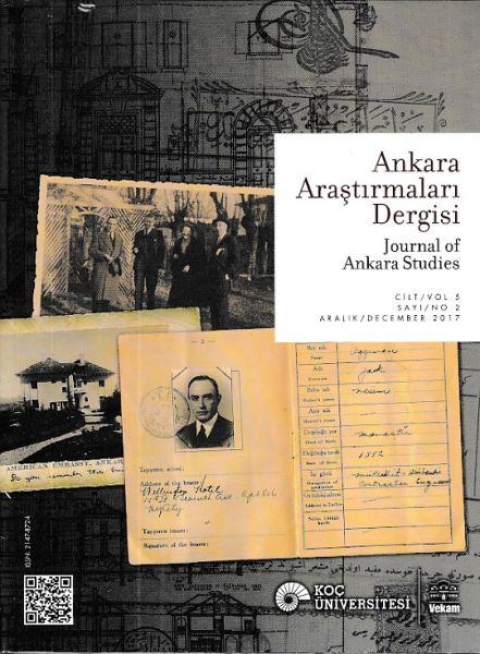 Ankara Araştırmaları Dergisi Sayı 2 Cilt 5 Aralık 2017