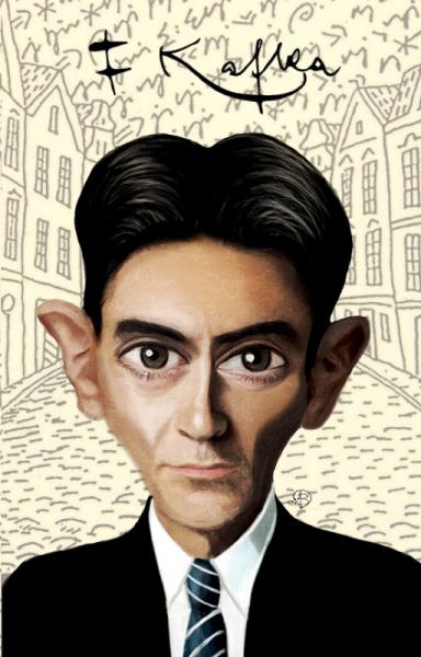 Franz Kafka Karikatür - Yumuşak Kapak Defter