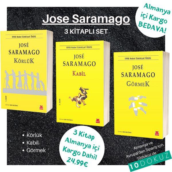 Jose Saramago 3 Kitaplı Set (Körlük - Kabil - Görmek)