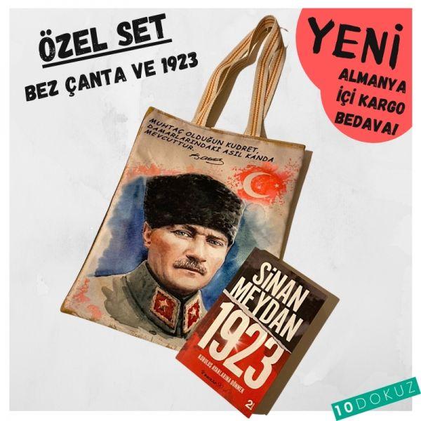 Sinan Meydan 1923 ve Atatürk Bez Çanta Seti
