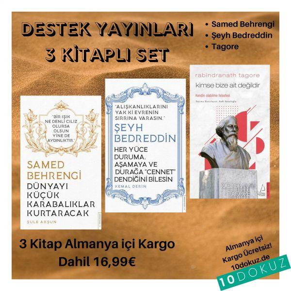 Destek YayInlarI 3 KİtaplI SET (Samed Behrengi - Şeyh Bedreddin - Tagore)