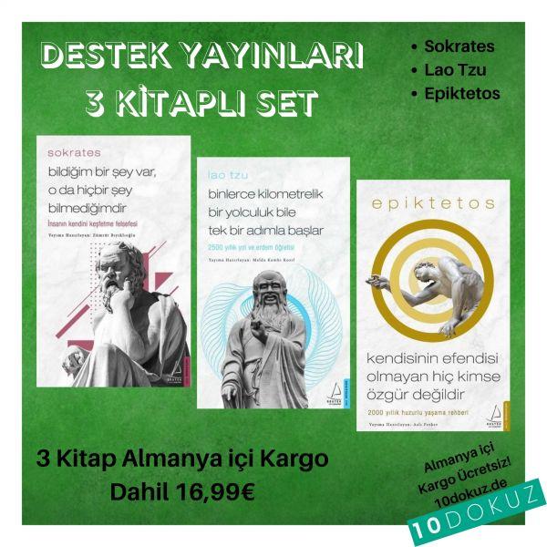 Destek Yayınları 3 Kitap SET (Sokrates - Lao Tzu - Epiktetos)